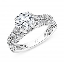 WHITE GOLD DIAMOND CONTEMPORARY  ENGAGEMENT SET