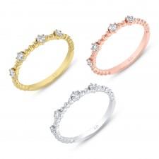 WHITE GOLD ELEGANT STACKABLE DIAMOND RING