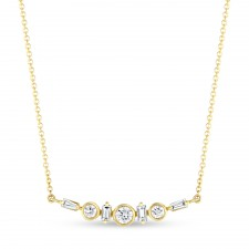 YELLOW GOLD CONTEMPORARY DIAMOND CLUSTER PENDANT