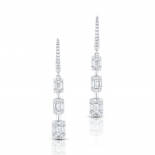 WHITE GOLD CONTEMPORARY DIAMOND EARRINGS