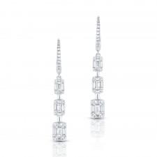 WHITE GOLD CONTEMPORARY DIAMOND EARRINGS