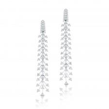 WHITE GOLD STYLISH DIAMOND DANGLE EARRINGS