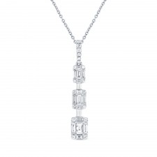 WHITE GOLD CONTEMPORARY DIAMOND PENDANT