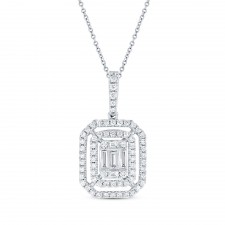 WHITE GOLD INSPIRED FASHION DIAMOND PENDANT