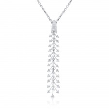WHITE GOLD DAZZLING FASHION DIAMOND PENDANT