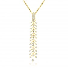 YELLOW GOLD DAZZLING FASHION DIAMOND PENDANT