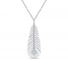 WHITE GOLD INSPIRED FASHION DIAMOND PENDANT