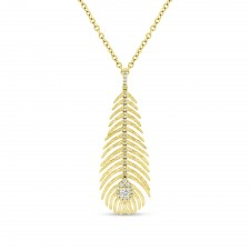 YELLOW GOLD INSPIRED FASHION DIAMOND PENDANT