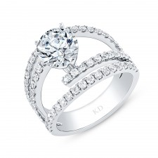 WHITE GOLD ELEGANT DIAMOND ENGAGEMENT RING