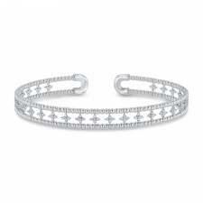 WHITE GOLD CONTEMPORARY FLEXIBLE DIAMOND BANGLE