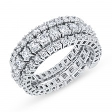 WHITE GOLD CONTEMPORARY FLEXIBLE DIAMOND RING