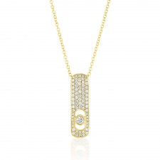 YELLOW GOLD INSPIRED FASHION DIAMOND PENDANT