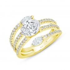 WHITE GOLD FASHION SEMI-MOUNT DIAMOND RING