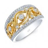 YELLOW GOLD INSPIRED FASHION DIAMOND BAND